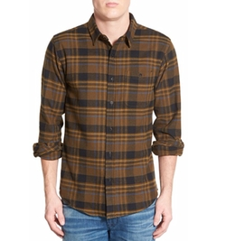 'Mooch' Plaid Woven Shirt by Ezekiel in New Girl