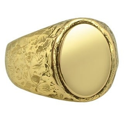 Oval Gold Men's Ring by Torrini in Shutter Island