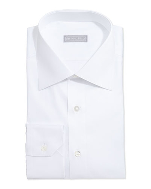 Basic Solid Barrel-Cuff Dress Shirt by Stefano Ricci	 in Demolition