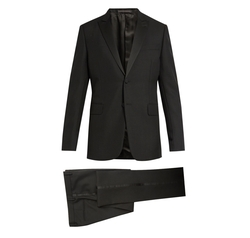Satin-Trimmed Wool and Mohair-Blend Tuxedo Suit by Valentino in Power