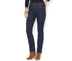 Super-Stretch Straight-Leg Jeans by Lauren Jeans Co. in That Awkward Moment
