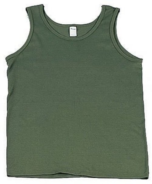 Olive Drab Sleeveless Tank Top by Uncle Sams Deals in Get Hard