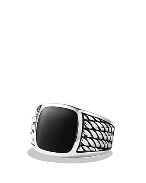 Maritime Rope Signet Ring with Black Onyx by David Yurman in Get On Up