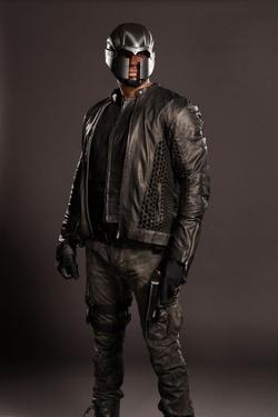 Custom 'Diggle' Costume by Maya Mani (Costume Designer) in Arrow