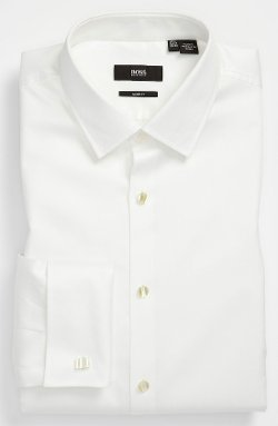 Jameson Slim Fit Tuxedo Shirt by Boss Hugo Boss in The Gunman
