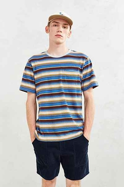 Classic Striped Pocket T-Shirt by Urban Outfitters in Silicon Valley