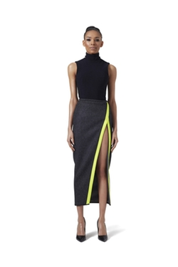 V Wrap Wool Skirt by LaQuan Smith in Keeping Up With The Kardashians