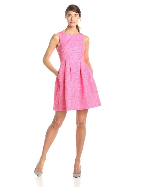 Women's Sleeveless Fit And Flare Dress by Gabby Skye in Barely Lethal