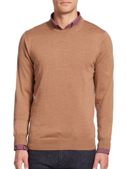 Merino Wool Crewneck Sweater by Saks Fifth Avenue Collection in Animal Kingdom