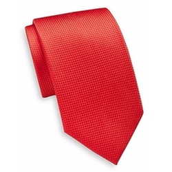 Textured Silk Tie by Yves Saint Laurent  in New Girl