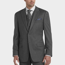 Stripe Modern Fit Suit by Joseph Abboud in Valentine's Day