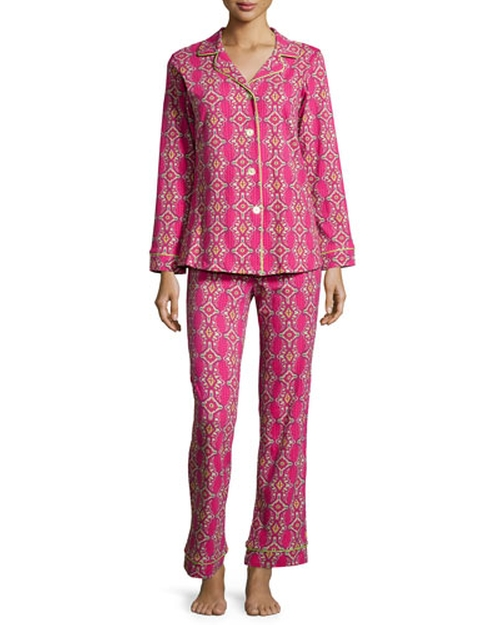 Foulard Printed Knit Pajama by Bedhead in The Mindy Project - Season 4 Episode 10