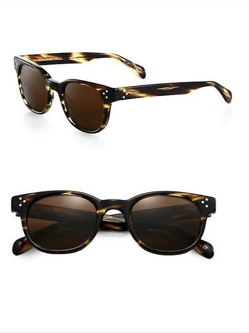 Afton Round Acetate Sunglasses by Oliver Peoples in Mortdecai