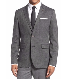 'Semi Plaid' Modern Slim Fit Sport Coat by Ted Baker London in Elementary