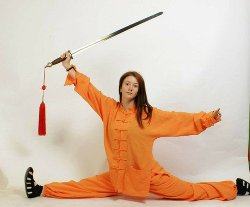 Shaolin Style Hemp and Linen Wudang Tai Chi Uniform by Asia-Sale International in Couple's Retreat