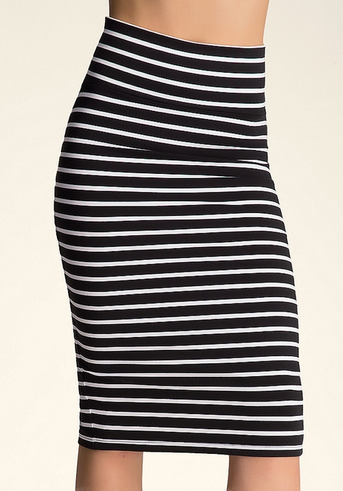 Striped Midi Skirt by Bebe in The DUFF