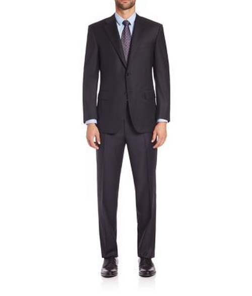 Wool Two-Button Suit by Canali in Guilt - Season 1 Episode 4