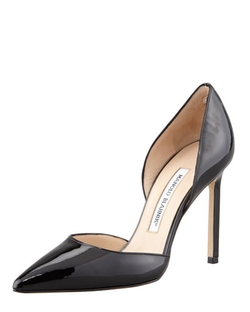 Tayler Patent Pointed D'orsay Pump by Manolo Blahnik in Suits
