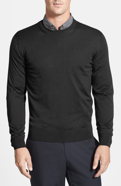 Cashmere Crewneck Sweater by Robert Talbott in That Awkward Moment
