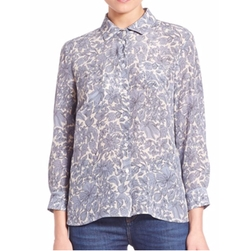 Marica Floral Silk Shirt by Weekend Max Mara in Allied