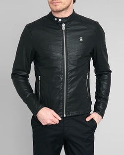 Biker Faux Leather Jacket by G-Star in Master of None