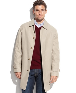 Single-Breasted Leone Rain Coat by Tommy Hilfiger in The Night Of