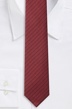 Silk Textured Diagonal Stripe Tie by Boss in New Girl