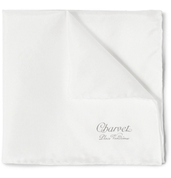 Silk Pocket Square by Charvet in Suits