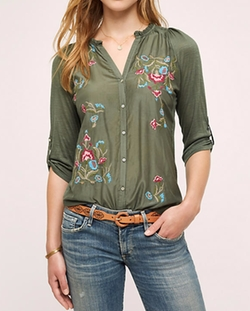 Lazui Embroidered Top by Anthropologie in The Flash