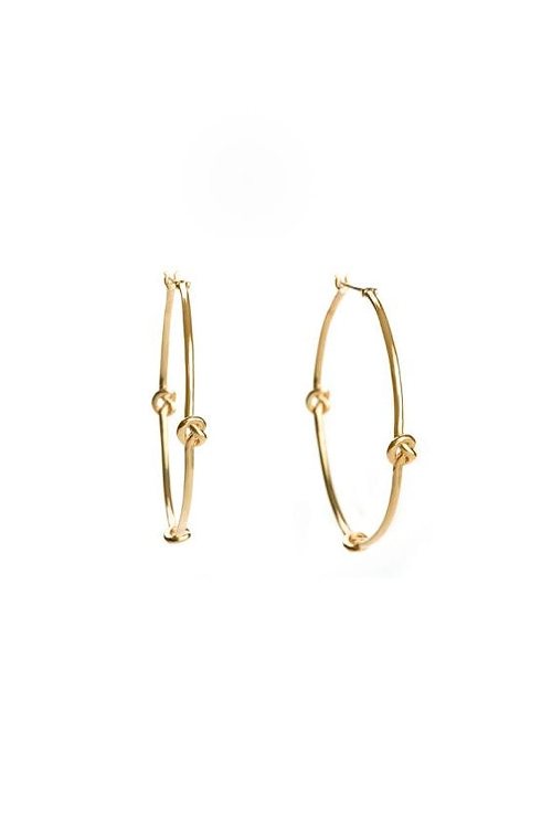 Knot Hoops Earrings by Avanessi in Hitman: Agent 47