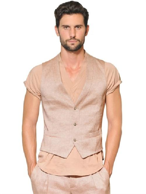 Wool/Linen Blend Vest by Giorgio Armani in The Great Gatsby