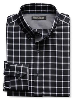 Tailored Check Oxford Shirt by Banana Republic in The Twilight Saga: Breaking Dawn - Part 2