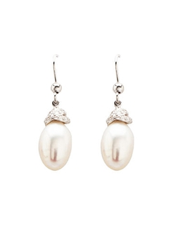 Sterling Silver Freshwater Pearl Drop Earrings by Lord & Taylor in Jurassic World