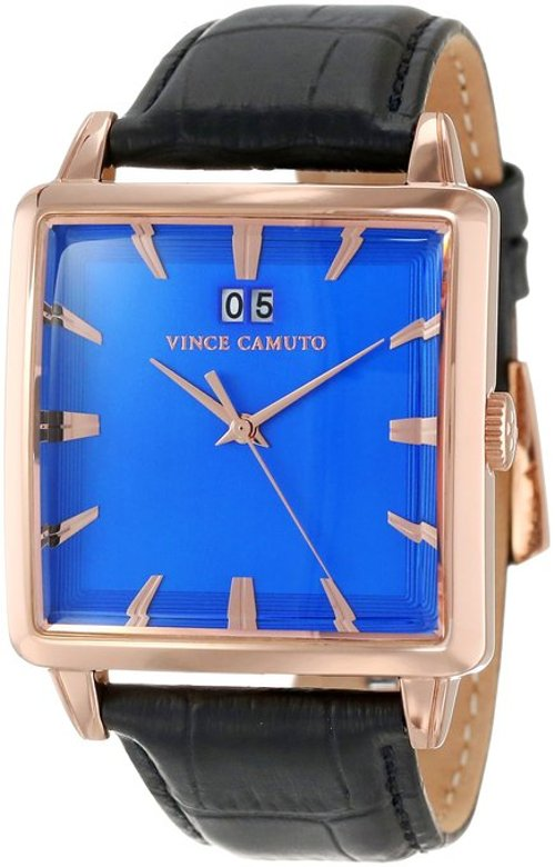 Gold-Tone Black Leather Strap Watch by Vince Camuto in That Awkward Moment
