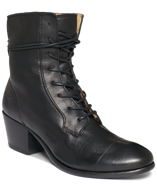 Courtney Lace Up Booties by Frye in Barely Lethal