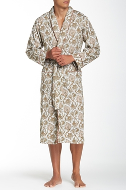 Olive Paisley Robe by Bedhead in Ocean's Eleven