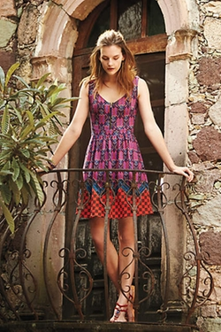Multicolor Amapola Dress by Maeve in Pitch Perfect 2