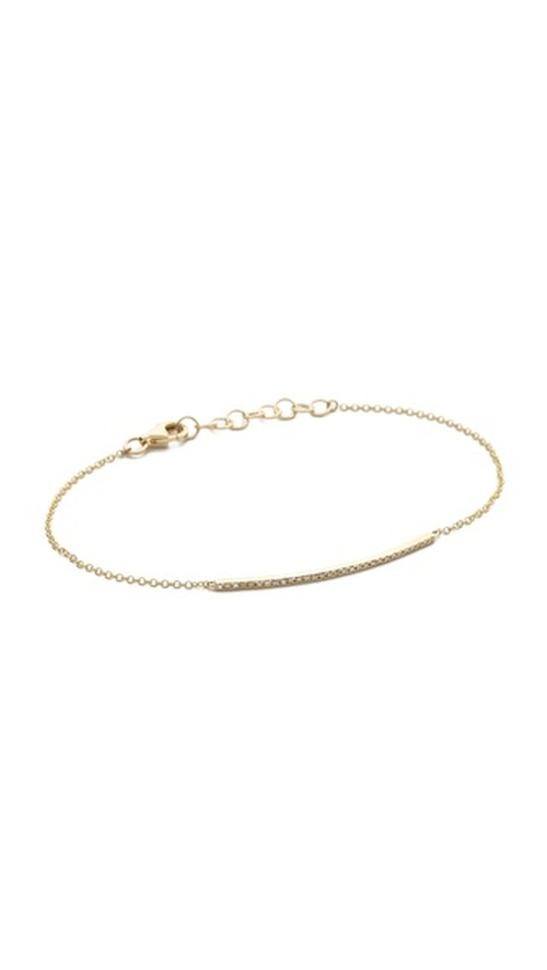Pave Diamond Chain Bracelet by EF Collection in The Boy Next Door