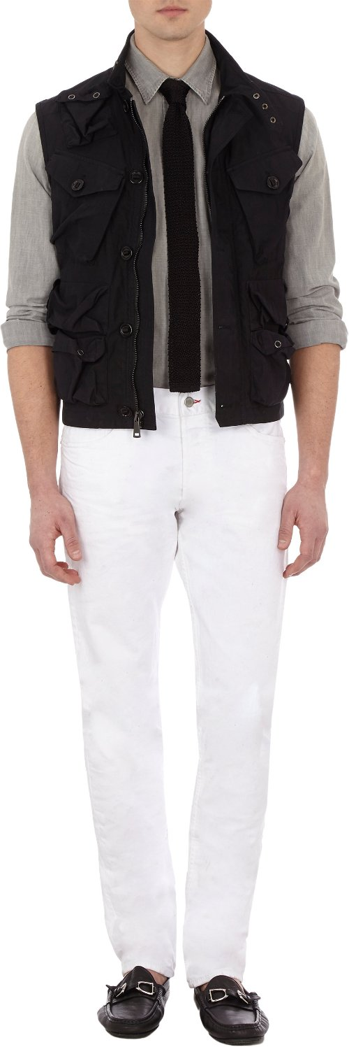 Resin-Coated Combat Vest by Ralph Lauren Black Label Denim in The Best of Me