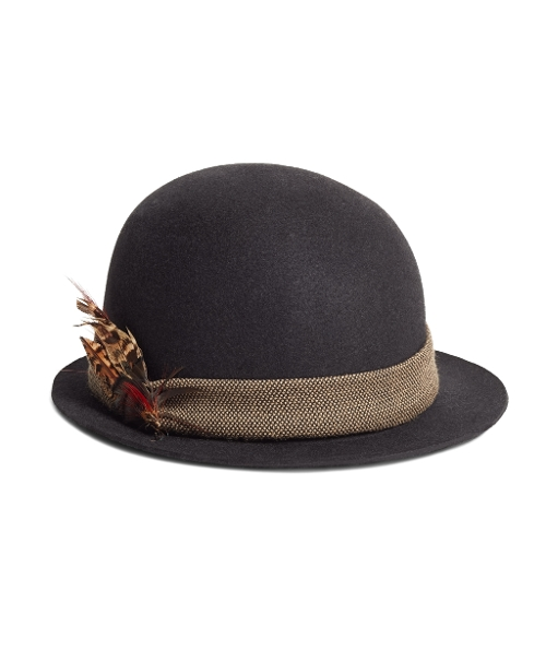Wool Bowler Hat by Brooks Brothers in Pan