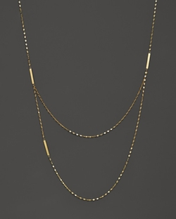 Tri Bar Necklace by Lana Jewelry in Suits