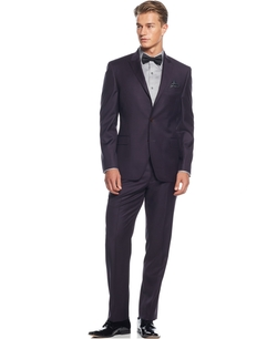 Solid Slim-Fit Suit by Tallia in Fuller House