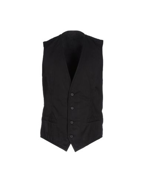 Cotton Twill Vest by Dolce & Gabbana in Suits