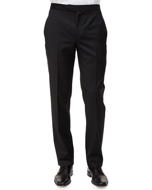 Satin-Taped Formal Wool Trousers by Ermenegildo Zegnasatin in Mission: Impossible - Rogue Nation