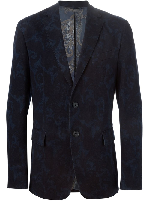 Floral Print Denim Blazer by Etro in American Horror Story - Season 5 Episode 6