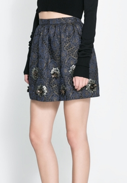 Short Jacquard Skirt by Zara in Pretty Little Liars