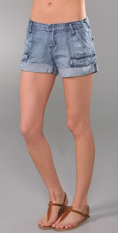 Cillian Denim Cargo Shorts by Joie in Gossip Girl - Series Looks