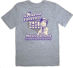 Weekend Forecast Heather Gray T-Shirt by The Hangover in The Hangover
