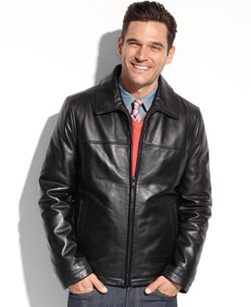 Smooth Lamb Leather Jacket by Tommy Hilfiger in Need for Speed