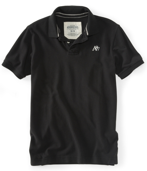 A87 Solid Piqué Polo by Aeropostale in Gone Girl